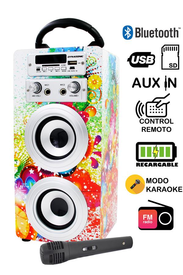 altavoz bluetooth con karaoke