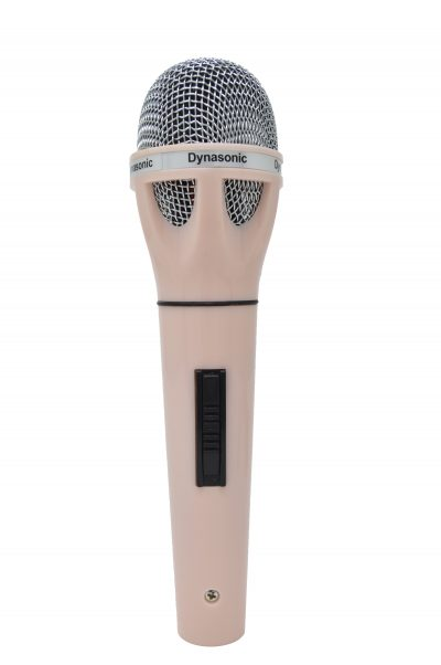 Micrófono Dynasonic rosa claro