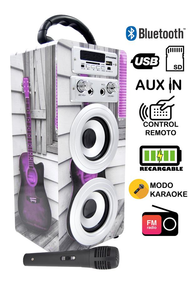 altavoz karaoke modelo guitarra