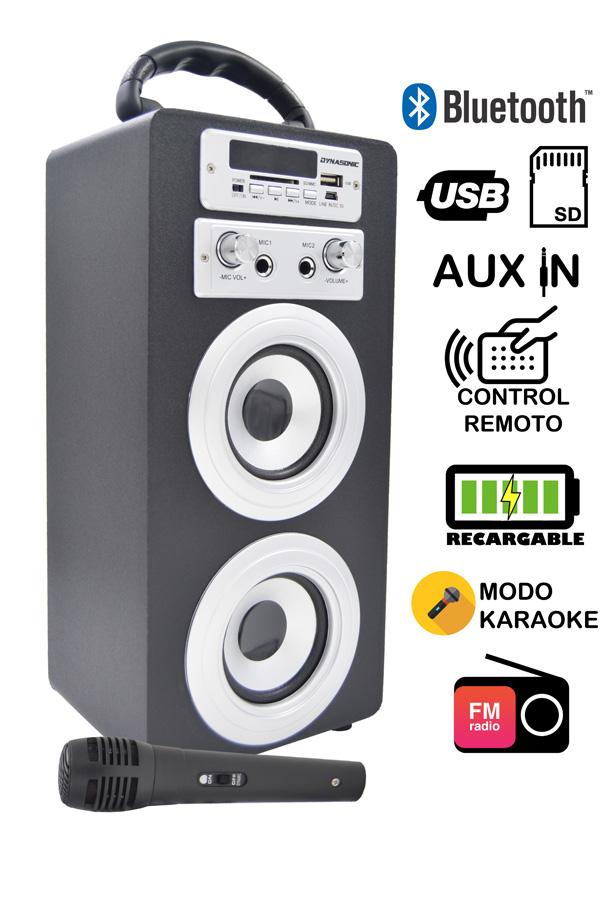 altavoz con karaoke dynasonic