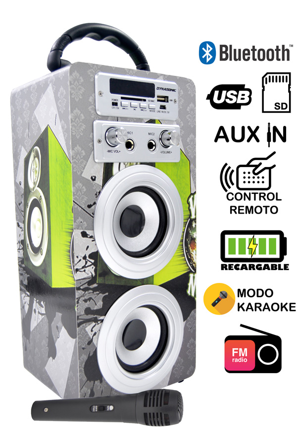 altavoz con karaoke