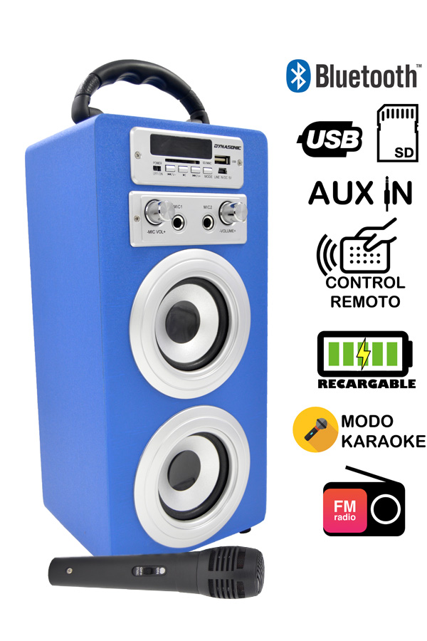 altavoz dynasonic color azul