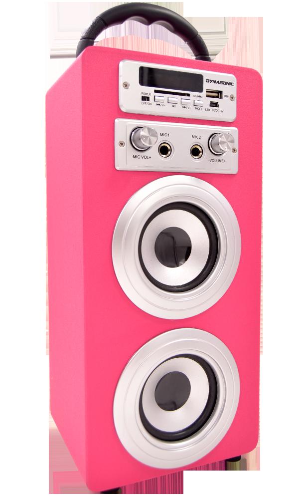 altavoz dynasonic 025 rosa